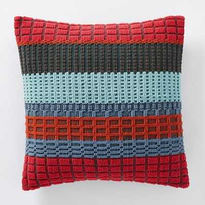 Margo Selby Woven Block Pillow Cover - Insert Sold Separately - West Elm