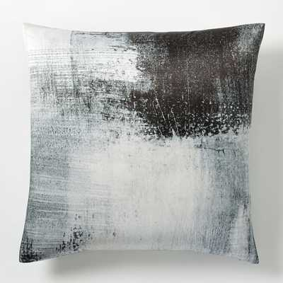 "Painterly Texture Pillow Cover - Platinum - 20""sq - Insert sold separately - West Elm"