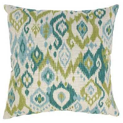 "Ikat Blue and Green Throw Pillow - 11.5""x18.5"" - polyester insert - Target"