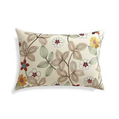"Eden 22""x15"" Pillow with Feather-Down Insert - Crate and Barrel"