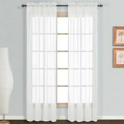 Monte Carlo Voile Rod Pocket Sheer Curtain Panels - Wayfair