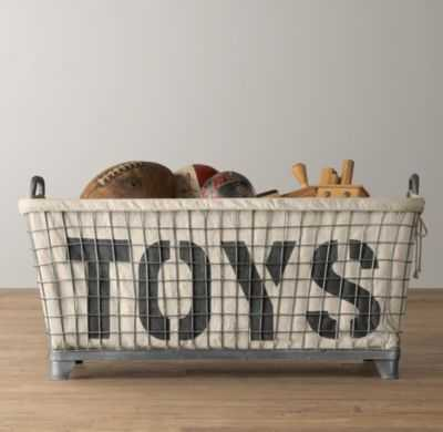 Industrial basket & toys liner - RH Baby & Child