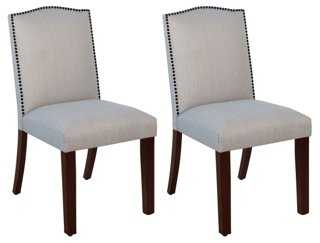 Charcoal Trey Side Chairs, Pair - One Kings Lane