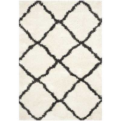 "Belize Shag Ivory & Charcoal Area Rug II - 5'1"" x 7'6"" - Wayfair"