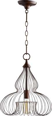 "Quorum Birdcage 16 1/4""W Oiled Bronze Pendant Light - Lamps Plus"
