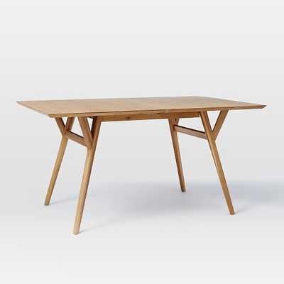 Mid-Century Expandable Dining Table-Natural Oak, Medium - West Elm