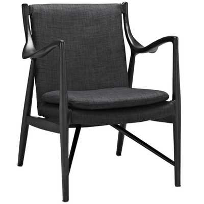 Signe Upholstered Lounge Chair - Black/Gray - Domino