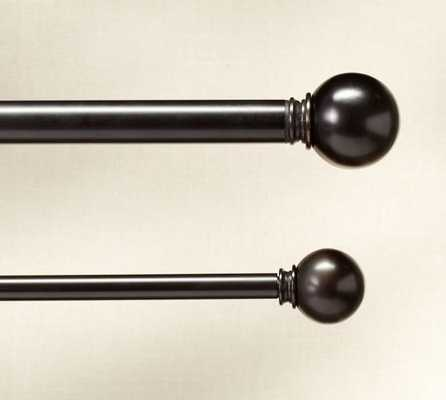 PB Standard Ball Finial & Drape Rod - Antique Bronze finish - Pottery Barn