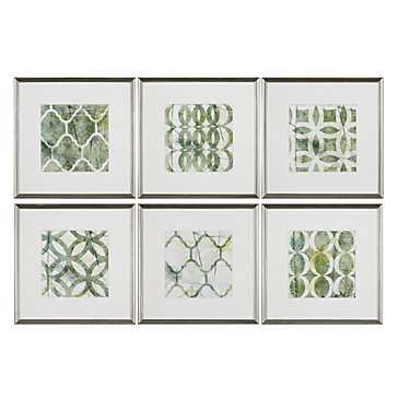 Urban Links - Set of 6 - 22''W x 1''D x 22''H  - Framed - Z Gallerie
