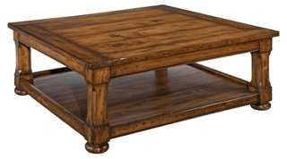 Tudor Coffee Table, Toffee - One Kings Lane