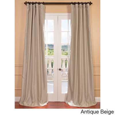 "Taffeta Solid Blackout Curtain Panel - Antique beige, 108""L - Overstock"