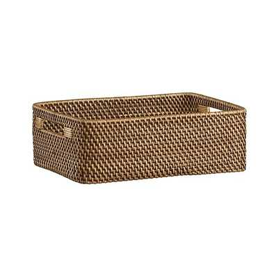 Sedona Honey Low Open Tote - Crate and Barrel