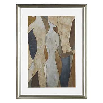 Figure Overlay 2 - 23.5''x 31.25'' - framed - Z Gallerie