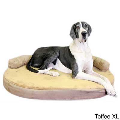 Integrity Orthopedic Memory Foam Joint Relief Bolster Dog Bed (Toffee - XL) - Overstock