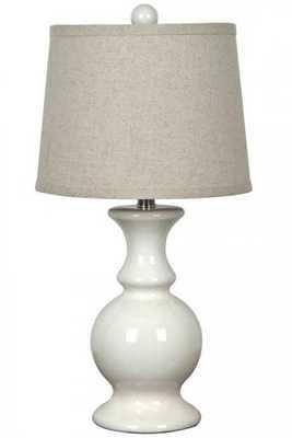 Amana Table Lamp -Off White - Home Decorators