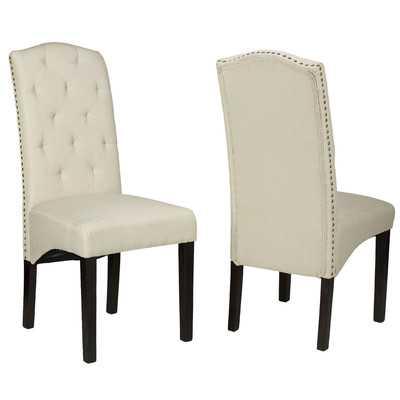 Alessa Camelback Parsons Chair - Set of 2 - Wayfair