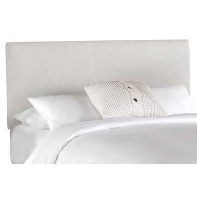 Upholstered Linen Headboard - Queen, Talc - Wayfair