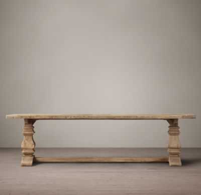 SALVAGED WOOD TRESTLE RECTANGULAR EXTENSION DINING TABLE - RH