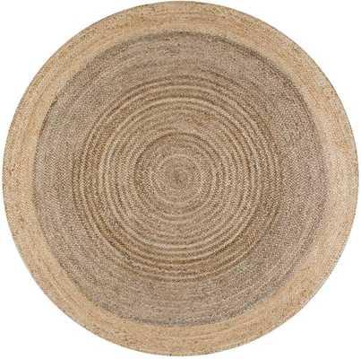 Hand Woven Eleonora Rug - 6' round - Gray - Loom 23