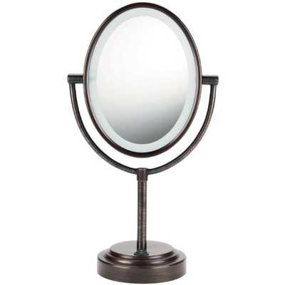 Conair Oval Double-Sided Lighted Mirror - Amazon