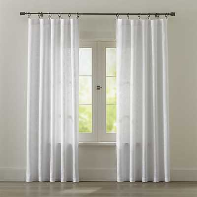 "Lindstrom White Curtains - 108"" - Crate and Barrel"