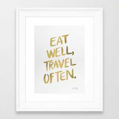 Eat Well Travel Often on Gold - Society6