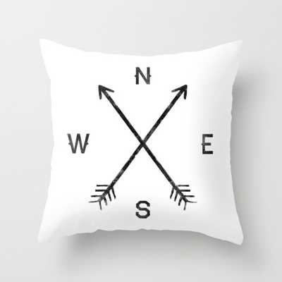 "Compass (White) throw pillow-16"" X 16""- Insert not included - Society6"