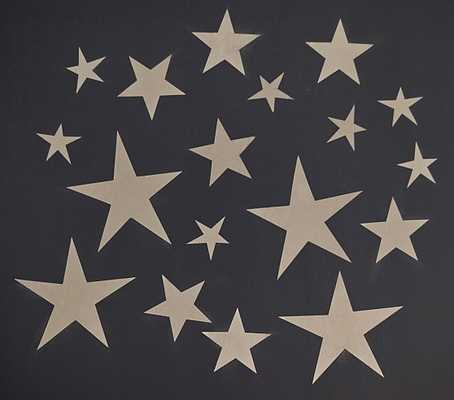 Champagne Star Decals - Pottery Barn Kids