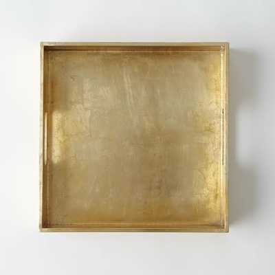 "Wood Tray, 12""X12"", Gold - West Elm"