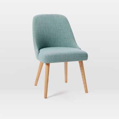 Mid-Century Dining Chair - Eucalyptus, Heathered Weave - Individual - West Elm