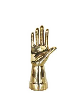 Modern Brass Hand Sculpture or Ring Holder - High Street Market