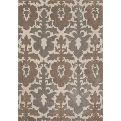 """Devine Polyester Hand Tufted Taupe/Tan Area Rug-5""""x 7'6"""" - Wayfair"""