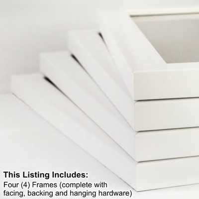 4-Piece White Picture Frame Set - Etsy