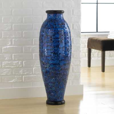 Mosaic Ocean Round Floor Vase - Wayfair