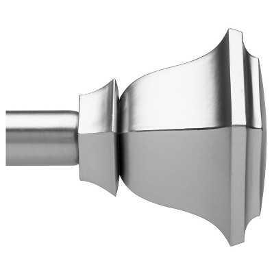 "Loft By Umbra Soft Square Curtain Rod - Nickel - 36-66"" - Target"