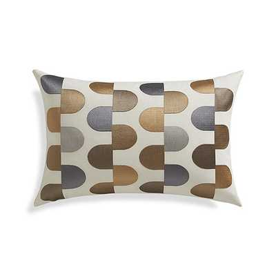 Sosa Pillow, solid white - 18x12 - Down-alternative insert - Crate and Barrel