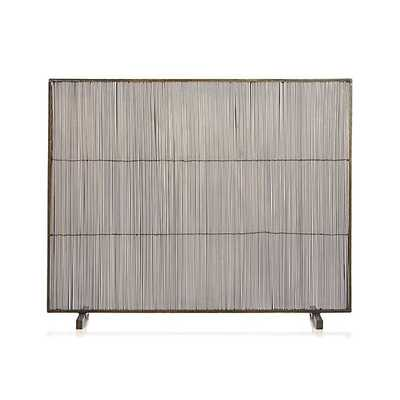 Antiqued Brass Fireplace Screen - Crate and Barrel