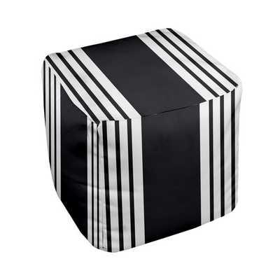 Stripe Pouf Ottoman - AllModern