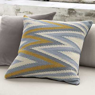 groove pillow with down-alternative insert - CB2