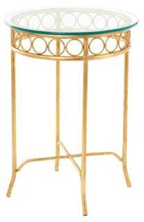 Hagan Side Table, Gold - One Kings Lane