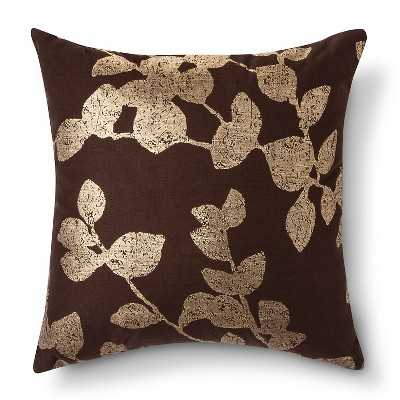 "Metallic Botanical Throw Pillow - 18""sq. - Polyester fill - Target"