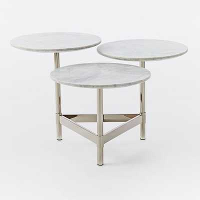 Tiered Circles Coffee Table - Marble-Polished Nickel - West Elm