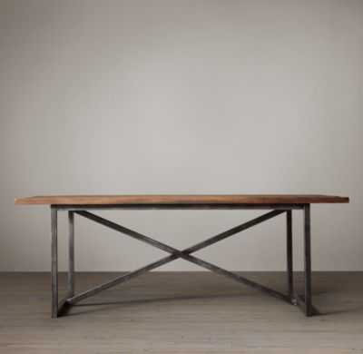 SALVAGED BOATWOOD RECTANGULAR DINING TABLE - RH