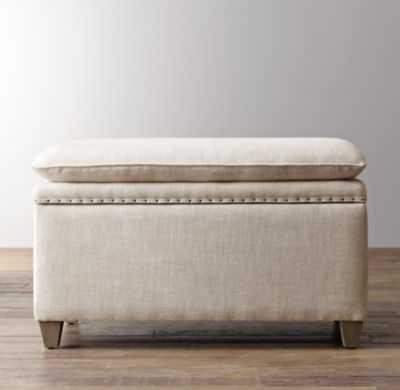 classic nailhead upholstered storage bench - RH Baby & Child
