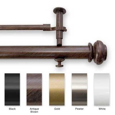 90 to 144-inch Adjustable Window Rod Set - Overstock