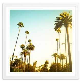 """Beverly Hills Sunset- 24"""" x 24""""- Framed - One Kings Lane"""