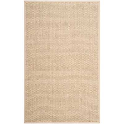 Safavieh Casual Natural Fiber Natural and Beige Border Seagrass Rug - Overstock