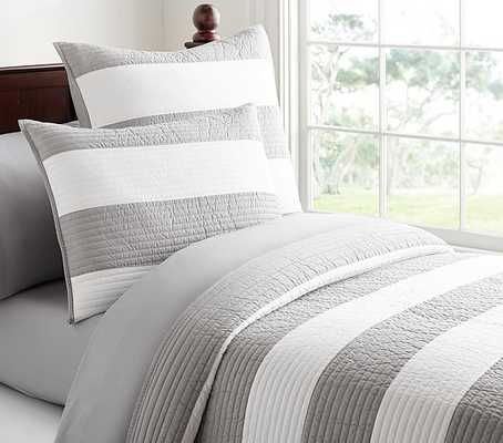 Rugby Stripe Quilted Bedding - Quilt - Twin - Pottery Barn Kids