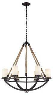 Quincy 6-Light Rope Chandelier - One Kings Lane
