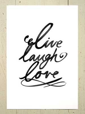 "Live laugh love typographic print - 11x14"" - Unframed - Etsy"